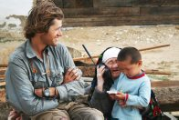 Tim Cope with villagers in Central Kazakhstan