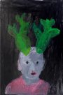 Cactus Head, painting by Jumaadi