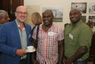 Solomon Islands Workshop Morning Tea Launch - Professor Tim Flannery, Dr Jeff Noro and Junior Novera