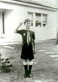 Dick Smith as a cub scout, aged eight, 1952