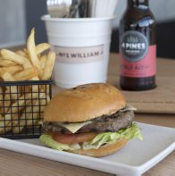 No. 1 William: Burger and fries