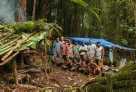 Mt Tolobusu camp and expedition team, Solomon Islands