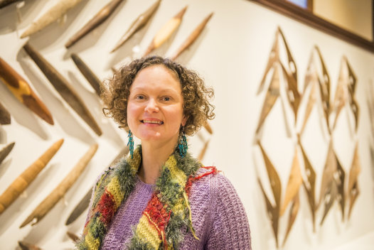 Sharni Jones, Manager of Aboriginal & Torres Strait Island Collection at the Australian Museum