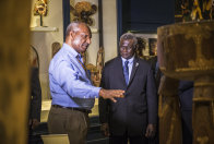 AM's Michael Mel with Prime Minister of the Solomon Islands, Hon. Manasseh Sogavare