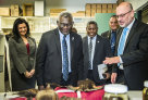 Rebecca Johnson, Tim Flannery and Prime Minister of the Solomon Islands, Hon. Manasseh Sogavare