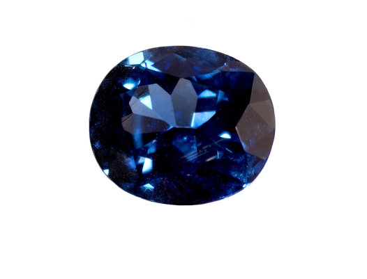 Faceted blue sapphire