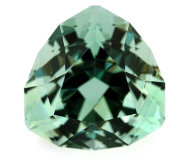 Faceted green fluorite