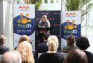 Kim McKay AO, Australian Museum Director & CEO, at launch of FrogID