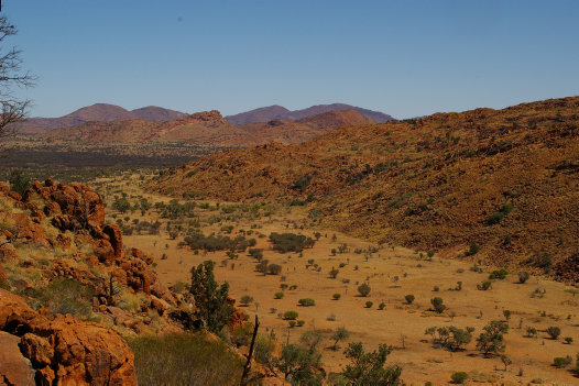 The rocky ranges of the APY Lands, South Australia