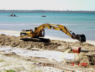 Beach nourishment engineering at Lady Robinson's Beach, Botany Bay
