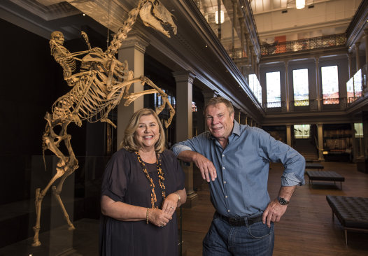 Kim McKay and Charles Wooley in the Westpac Long Gallery