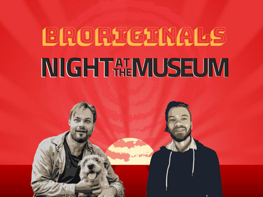 Travis and Texas De Vries, the two successful Aboriginal brothers of the satirical BRORIGINALS comedy podcast