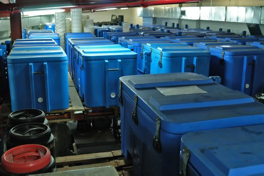 Coolbins are used to store large specimens