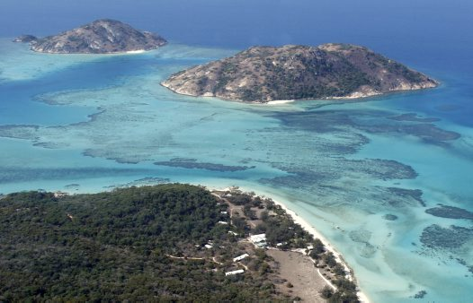 Aerial view, Lizard Island Research Station