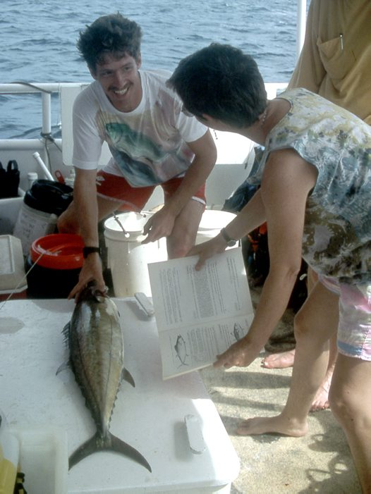 Mark and Helen with a Shark Mackerel
