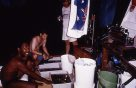 Vanuatu 1996 - sorting the catch at night