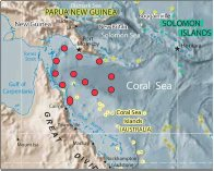 North West Coral Sea map