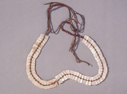 Aboriginal shell forehead band, Queensland