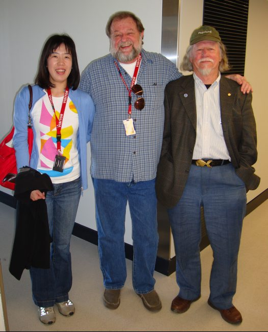 Ai Nonaka, Dr Dave Johnson and Dr Bruce Collette