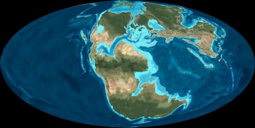 Map of world: Middle Jurassic