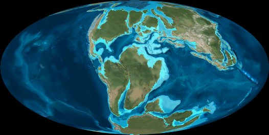 Map of world early cretaceous australian museum map of world early cretaceous early cretaceous 125 million years ago publicscrutiny Images