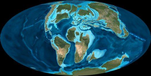 Map of world late Cretaceous  Australian Museum
