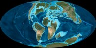 Map of world: late Cretaceous