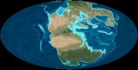 Map of world: Late Triassic