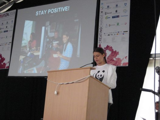 Speaking at a UN children's environment conference
