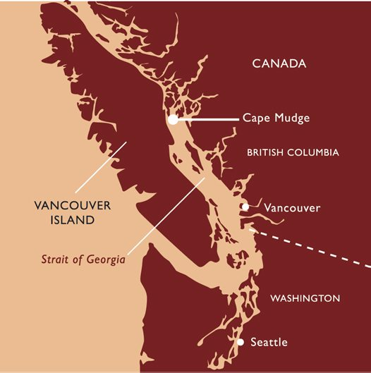 Cape Mudge Canada Map