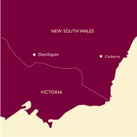 New South Wales Deniliquin Map