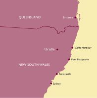 New South Wales Uralla Map