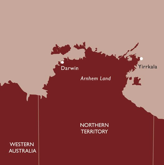 Northern Territory Yirrkala Map