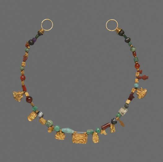 Necklace with amulets