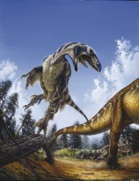 Deinonychus attacking