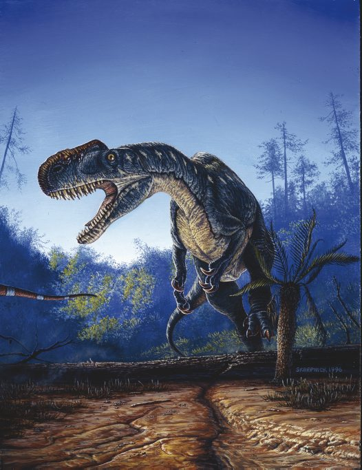 Monolophosaurus attacking