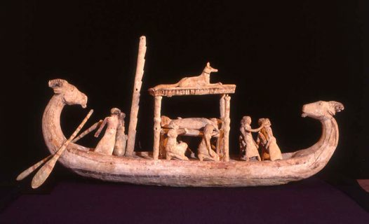 Ancient Egyptian model funerary boat