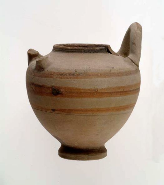 Ancient Egyptian earthernware vessel
