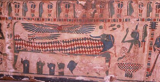 Ancient Egyptian painted coffin