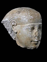 Ancient Egyptian limestone head