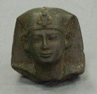 Ancient Egyptian style stone human head