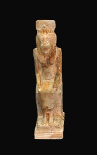 Ancient Egyptian statuette of god Sekhet