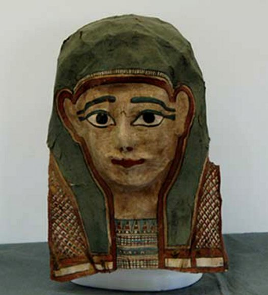 Ancient Egyptian mummy mask