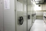 Compactus units in dry collection space