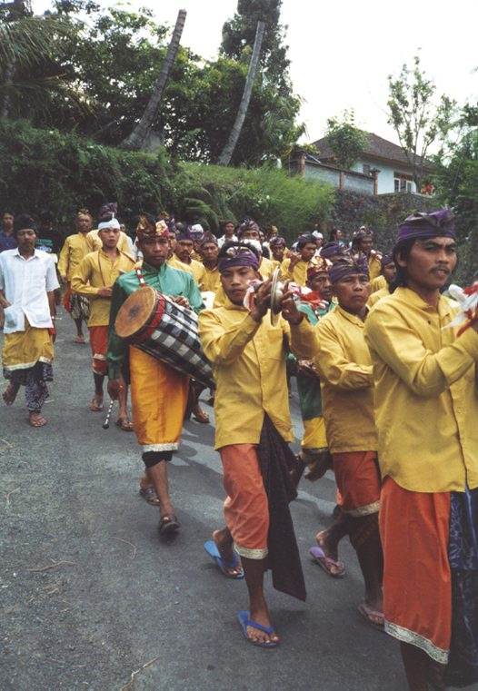 Village funeral procession