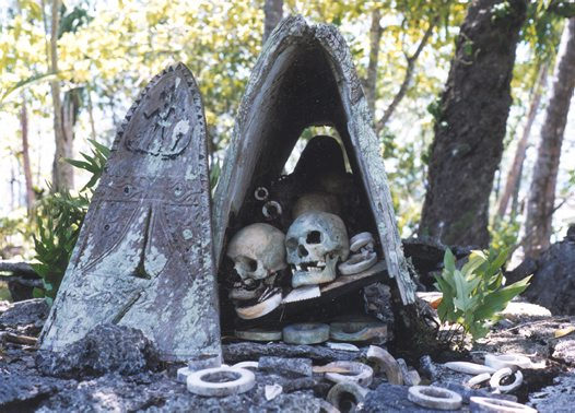 Skull shrine, Nusa Roviana Lagoon