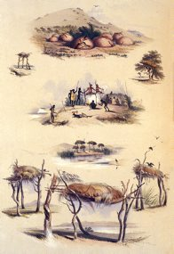 Illustration, 'Native Tombs', 1847