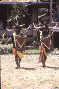 Toraja dancers perform warrior dance