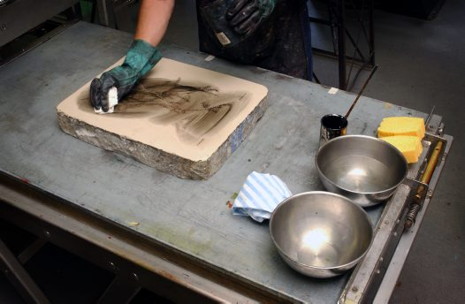 Lithography Process - a layer of bitumen
