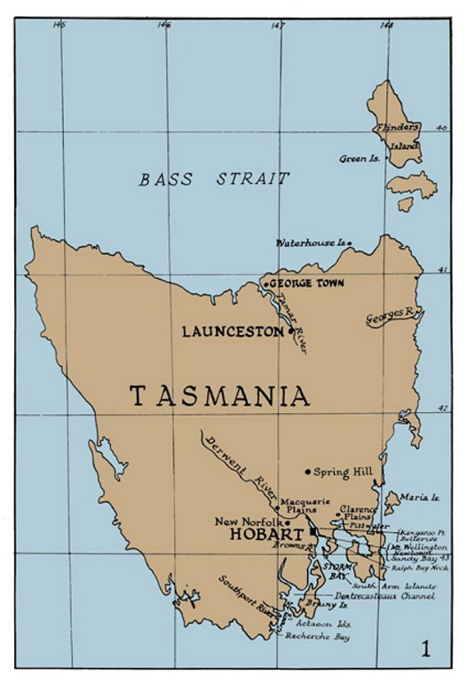 image map of goulds journey tasmania